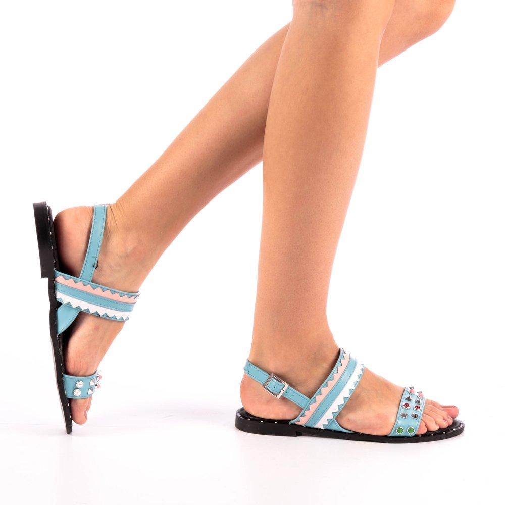 Sandale dama Clare albastre